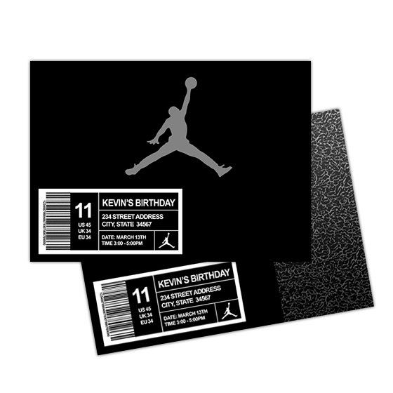 Air Jordan Favor Boxes Basketball favor bags by PishPoshPartique ...