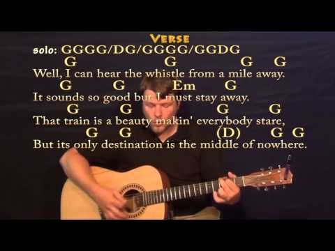 Long Black Train Josh Turner Strum Guitar Cover Lesson With Chords