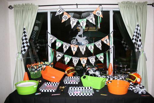 Motocross Birthday Party Ideas Photo 5 Of 18 Motorcycle Birthday Parties Bike Birthday Parties Dirtbike Birthday Party