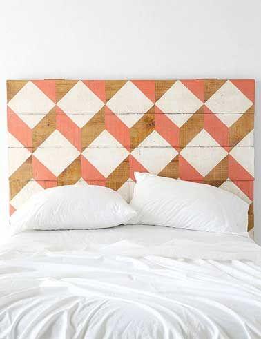DIY déco  on fait une tête de lit originale ! Taupe, Bedrooms and - peindre un lit en bois