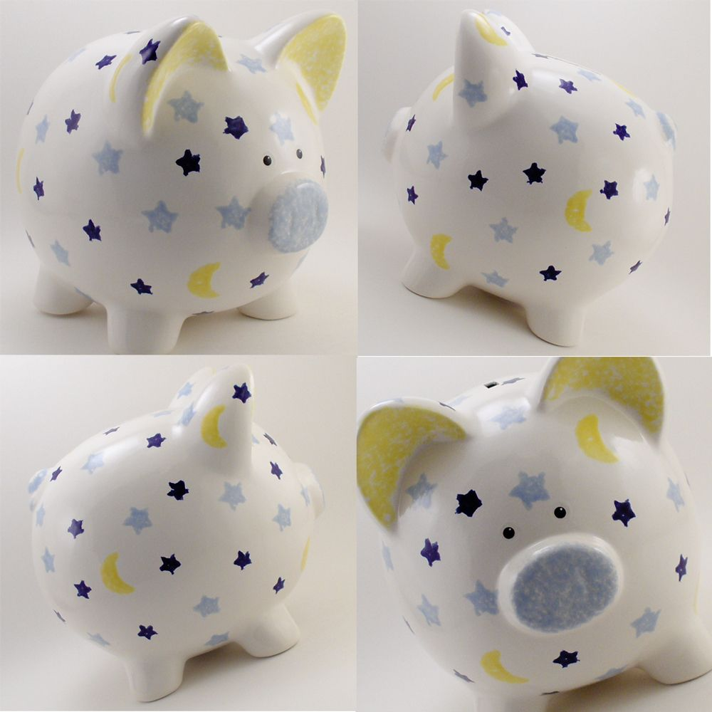 piggy bank style ceramic money box personalised any name free