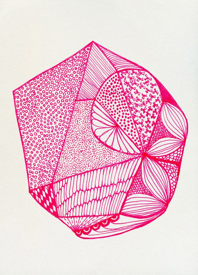 b6836b8c0db9 Faux Crystals drawing series by Spanish artist and designer Ana ...