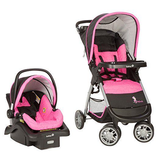 Amazon Disney Baby Minnie Mouse Amble Quad Travel System Pink Garden