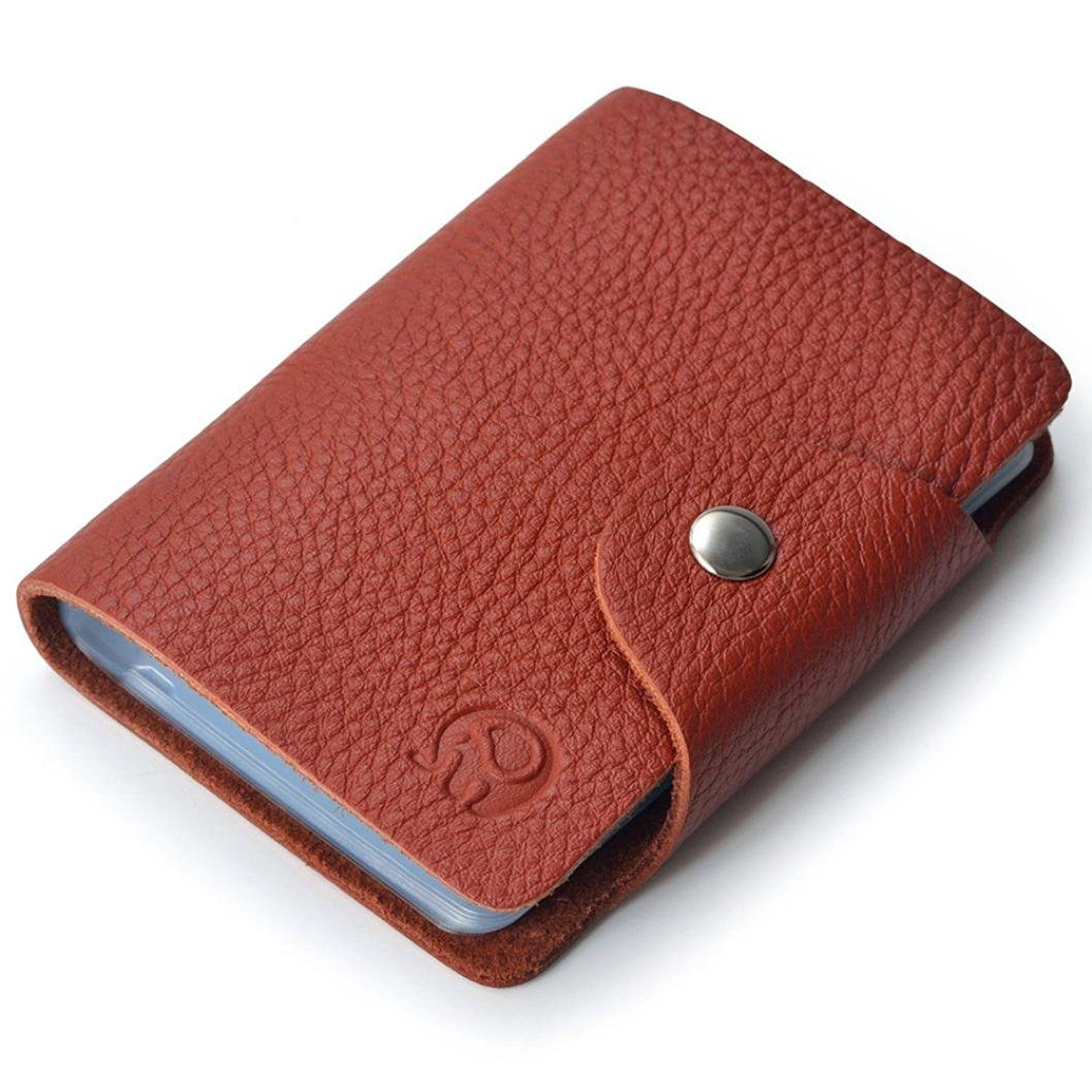 coromose business credit id card leather strap buckle bank card
