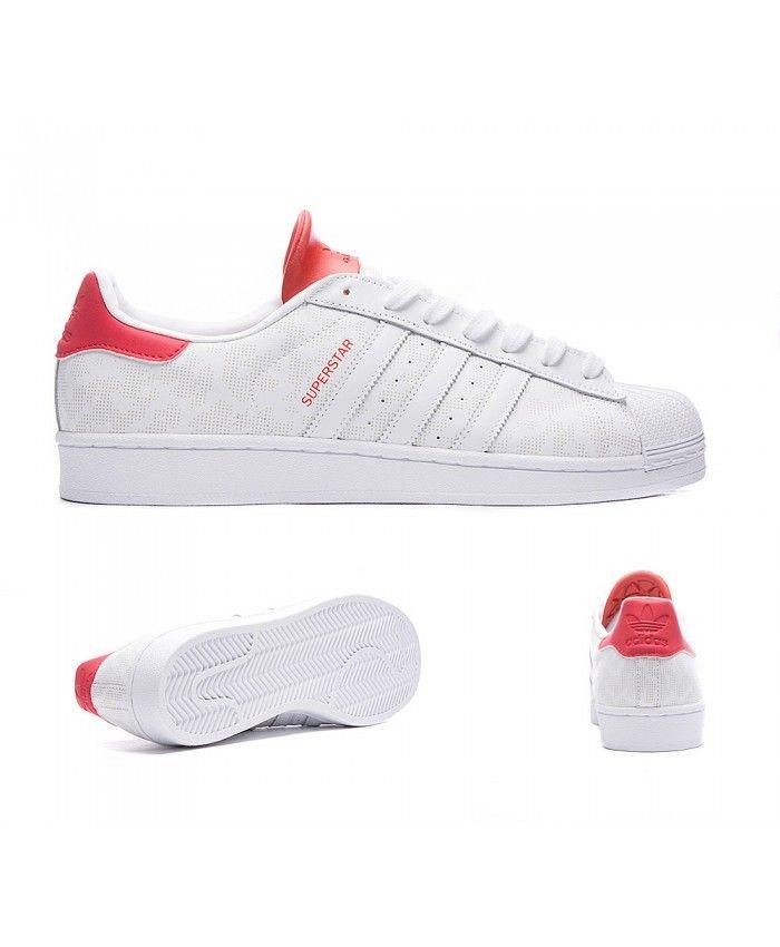 adidas originali superstar mimetico 15 bianco e rosso scarpe adidas