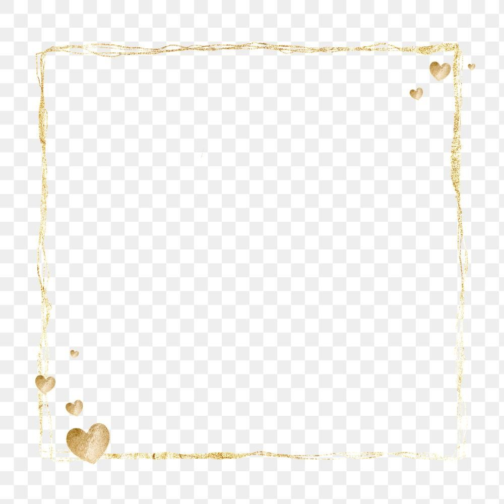 Gold Frame Clean Png Background Free Image By Rawpixel Com Nunny Gold Frame Free Illustrations Gold Sparkle