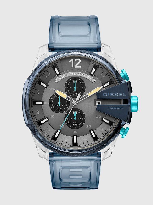 e3faa44a245c New Men s Diesel Chronograph Blue Silicone Watch  DZ4487  Diesel ...