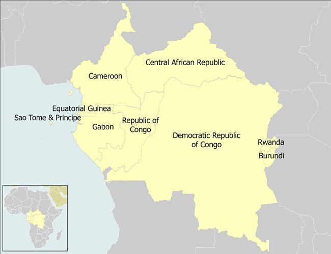 AFRICA CONGO basin Burundi Cameroon Central African Republic