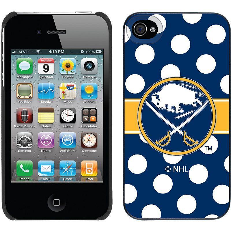 Coveroo, Inc. Buffalo Sabres Polka Dot iPhone 4 / 4S Thinshield Snap-On Case, Multicolor