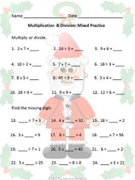 christmas multiplication division education in one spot math division teaching math. Black Bedroom Furniture Sets. Home Design Ideas