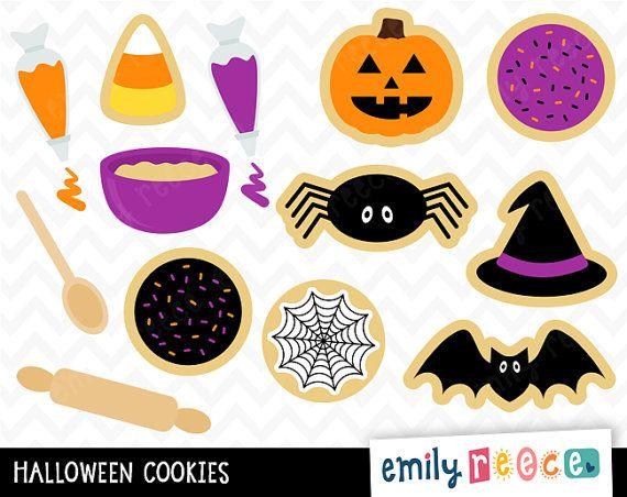 50% OFF SALE Halloween Cookies Baking Sweets por EmilyReeceDesigns ...