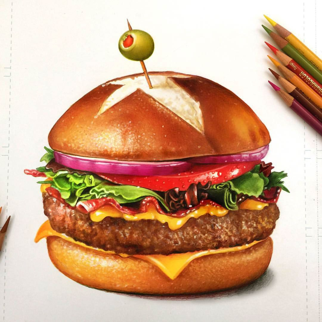 Food study colored pencil on behance