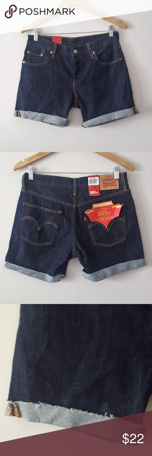 e390909b I just added this listing on Poshmark: NWT LEVI'S 501CT BUTTON FLY CUT OFF  DENIM SHORTS. #shopmycloset #poshmark #fashion #shopping #style #forsale # Levi's ...