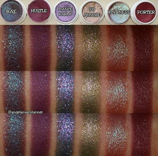 Colour Pop Eyeshadows I Love Bae And Dance Party Colourpop Makeup Swatches Makeup Nails
