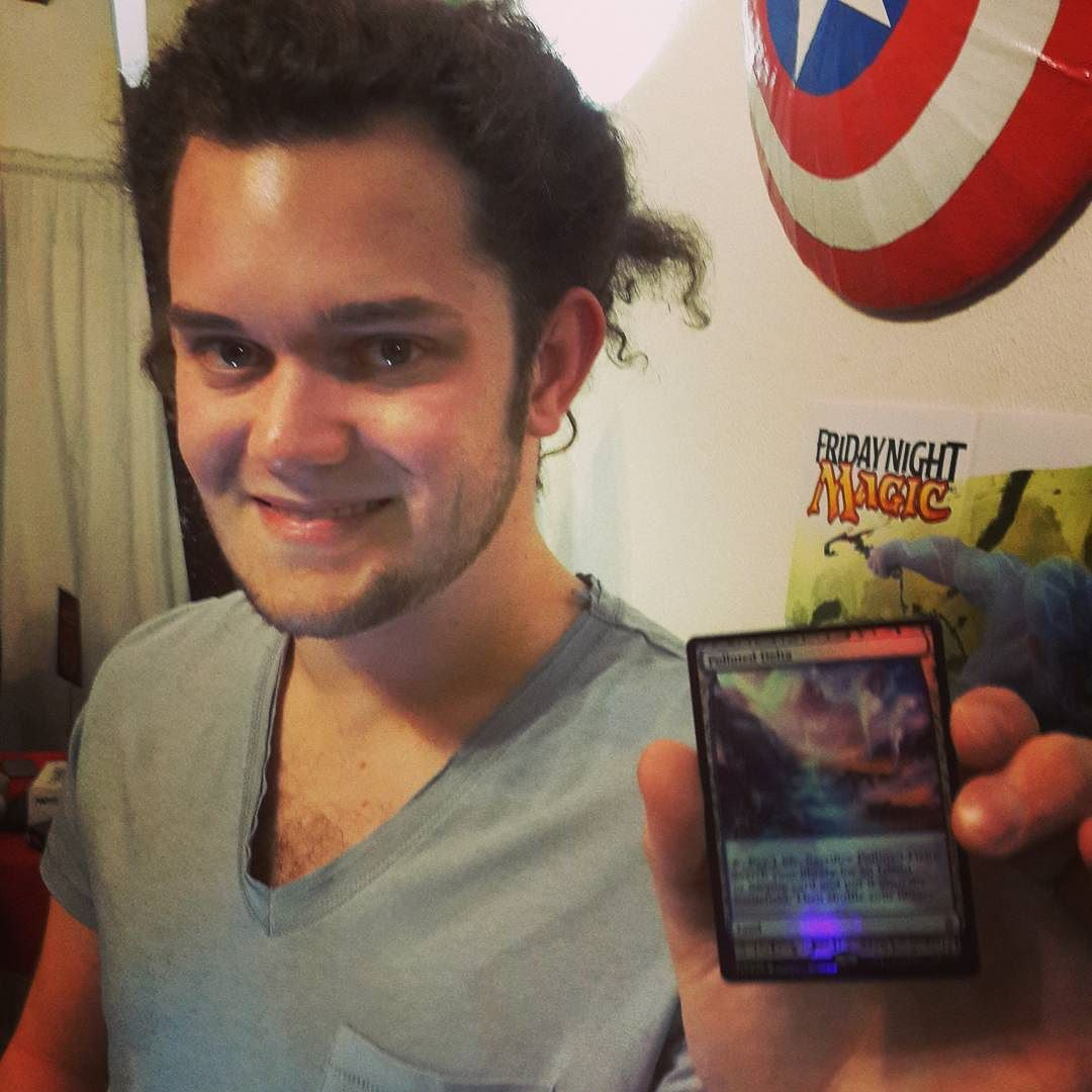 Kieran pulled a Polluted Delta foil! #FNM