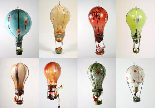 Air balloon light bulbs No tutorial but I can see a unique DIY here!