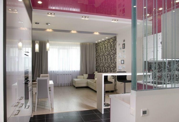 tapete in schwarz wei f r die wohnzimmerwand und k chenr ckwand dise o pinterest. Black Bedroom Furniture Sets. Home Design Ideas