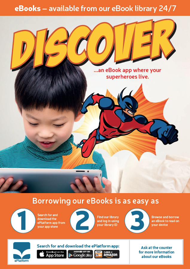 Discover an eBook app where your superheroes live