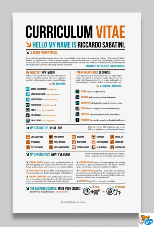 cv design typographique et color u00e9