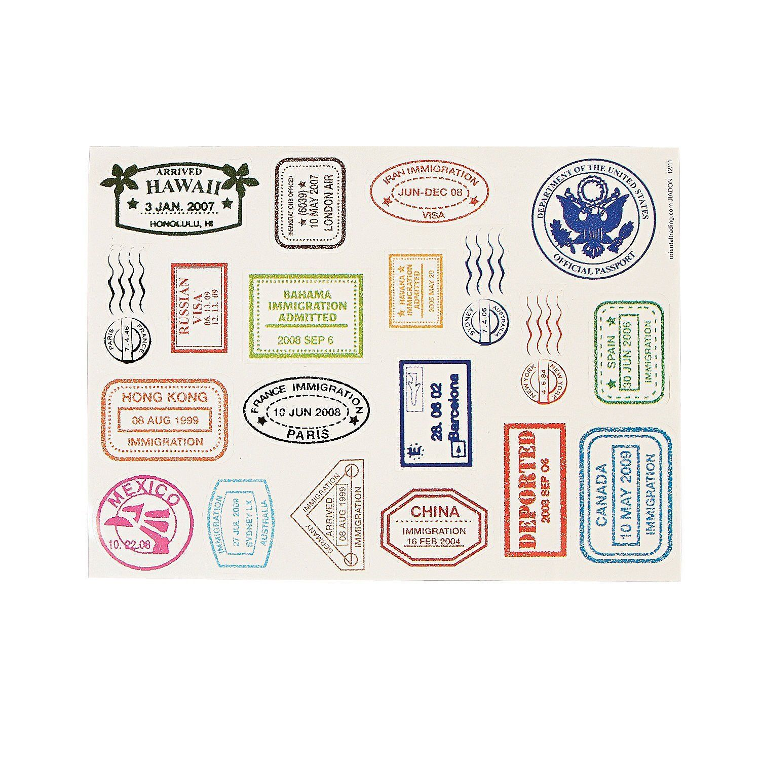 The Gallery For Gt Printable Passport Stamps For Kids