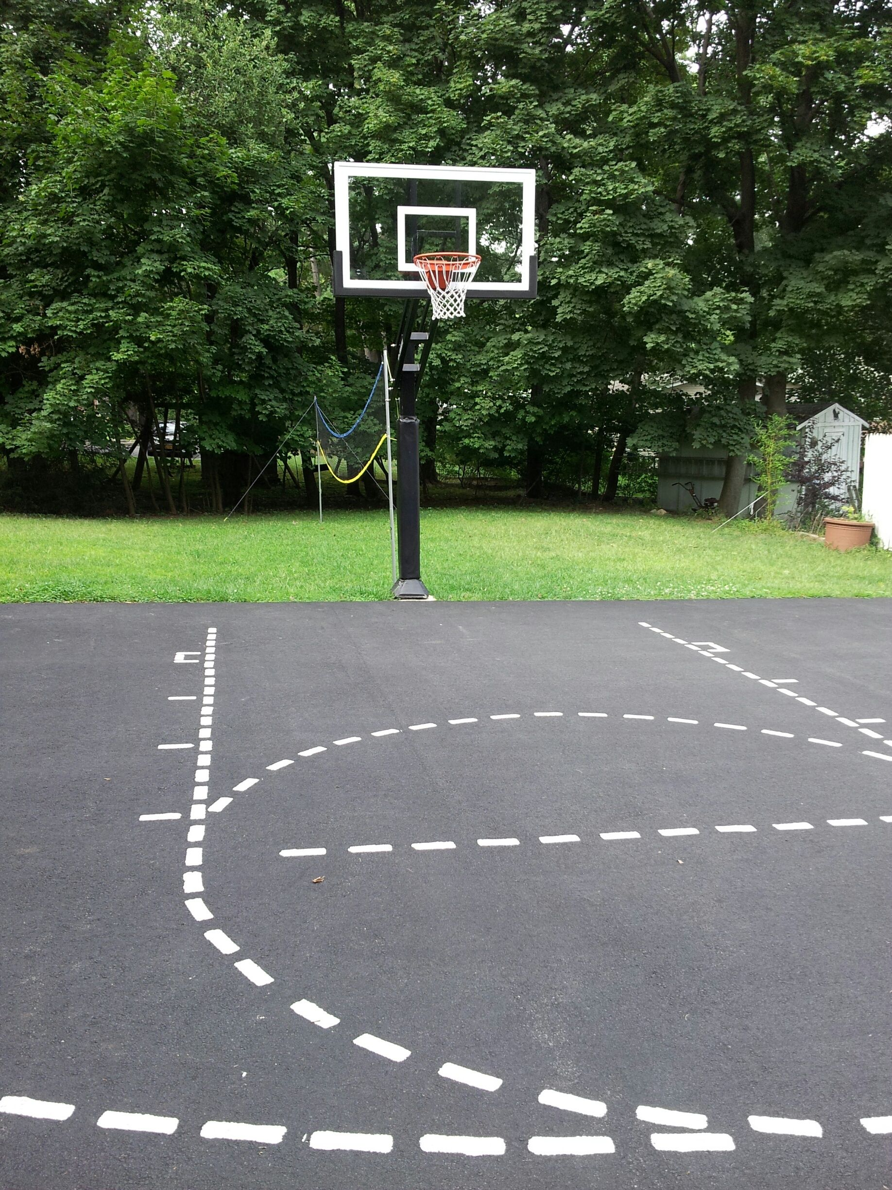 This Pro Dunk Gold Basketball system stands tall over a