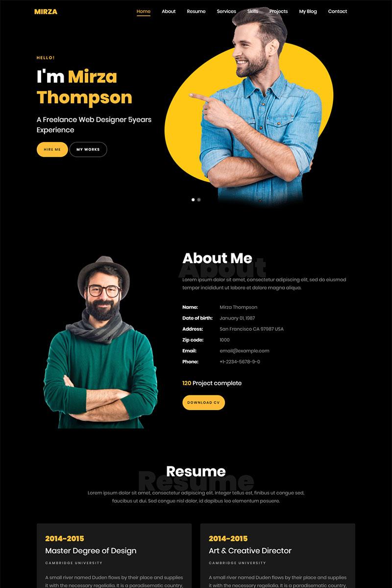 Creative Resume Portfolio Html5 Landing Page Template Profile Website Ideas Profilewebsite Webdesign Web Design Design Website Portfolio