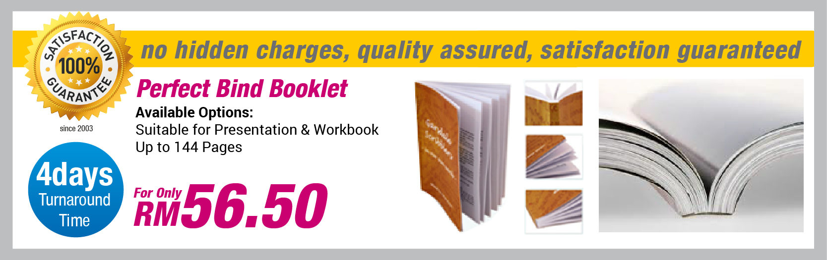 Perfect Bind Booklet Can Be Printed Either In Color Of Black And White Finish With Glue On Spine Which Make It Look Neat A Booklet Booklet Printing Book Print