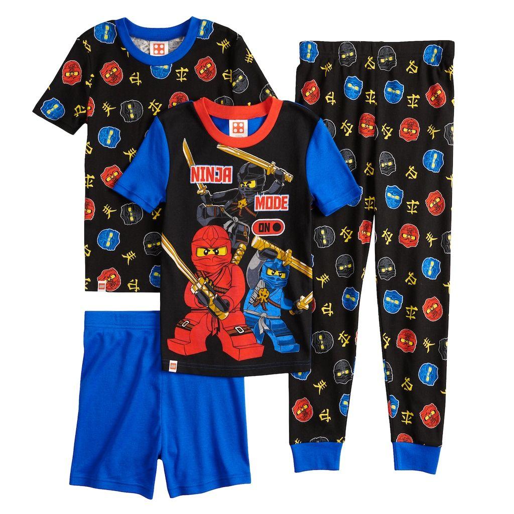 2728b3154a Boys 4-10 LEGO Ninjago 4-Piece Pajama Set