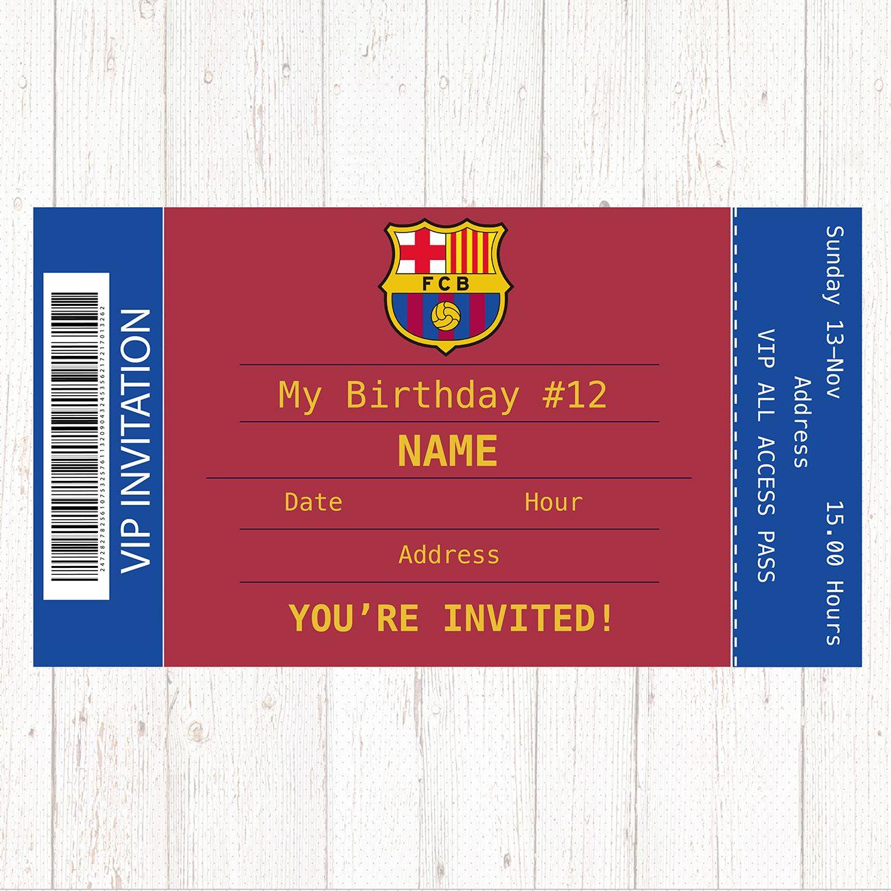 Barcelona Birthday Party Invitation Barcelona