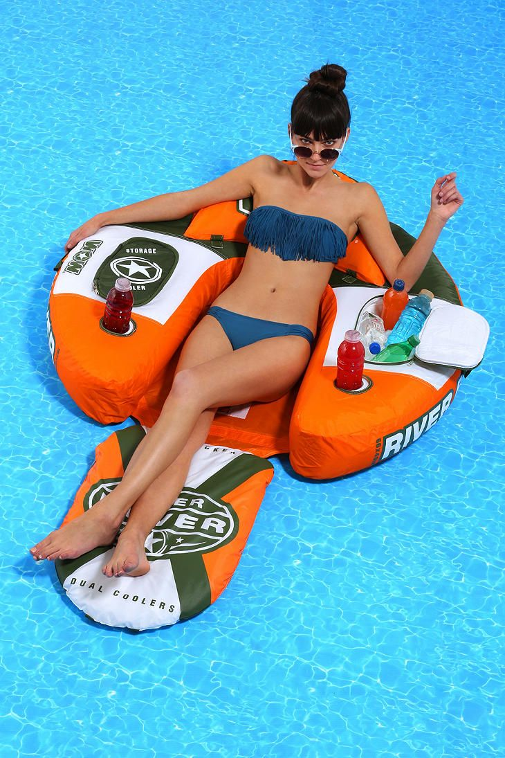 River Rover Lounge Chair Float. A Freakin Cooler On Each Side!! Where The  Hell Has This Been All My Life??