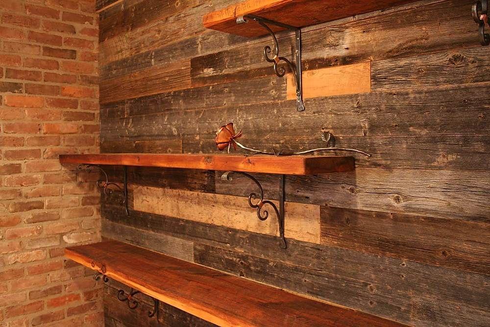 tablette en planche de bois de grange recherche google maison pinterest barn wood. Black Bedroom Furniture Sets. Home Design Ideas