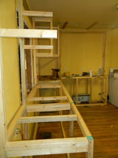 build kitchen cabinets shelves for how to from pallets building cabinet skeletons