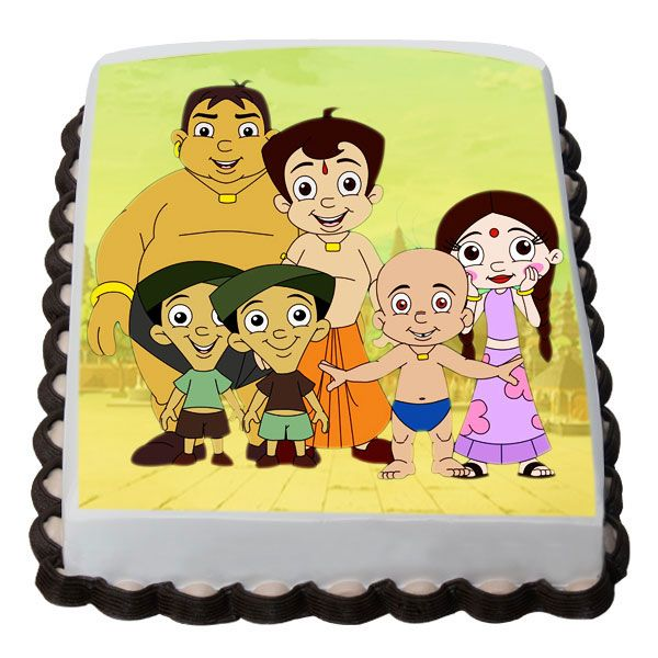 chota bheem team cake cake to Hyderabad same day delivery - best of chhota bheem coloring pages games