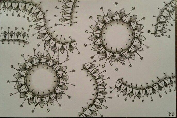 Zentangle made by Francine Derks CZT #17.