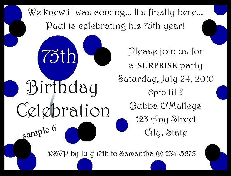 75th Birthday Party Invitations The Year Is Not Over And Before She Turns 76 75th Birthday Parties 75th Birthday Invitations 75th Birthday