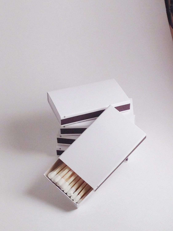 150 Plain White Cover Wooden Matchbox Matches/Matches/Matchboxes ...