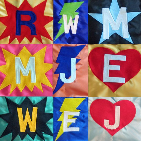 Superhero Cape Personalized with star bolt by funkidzstuff