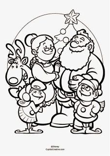 Menyambut Natal Bersama Santa Dan Keluarganya Mewarnai Santa