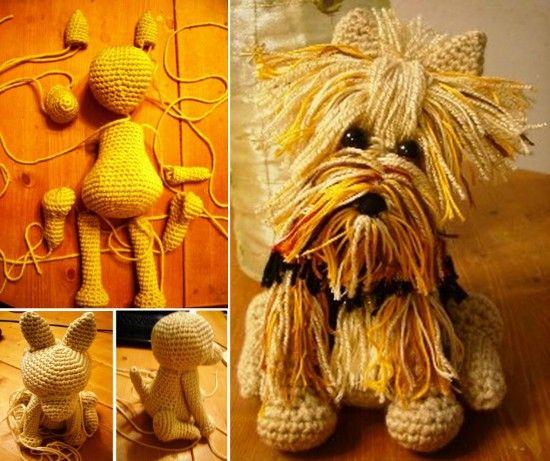 Adorable Yorkie Amigurumi | Perros amigurumis, Perro amigurumi ... | 461x550