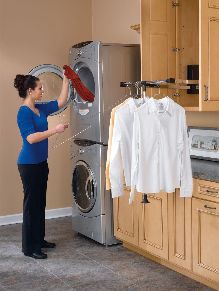 Pull Down Closet Rod 26 35 In Wide In 2020 Closet Rod Shelf Decor Laundry Room
