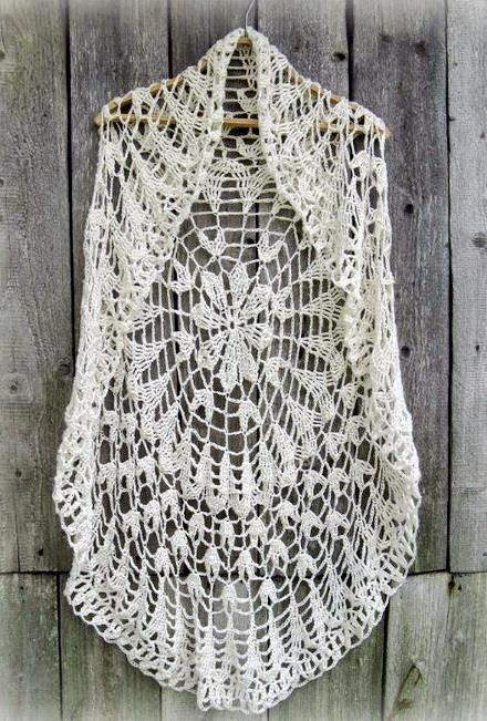 Ganchillo suéter: Patrón ganchillo Círculo Vest - Chic chaleco para ...