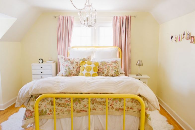 love the yellow bed frame - Yellow Bed Frame