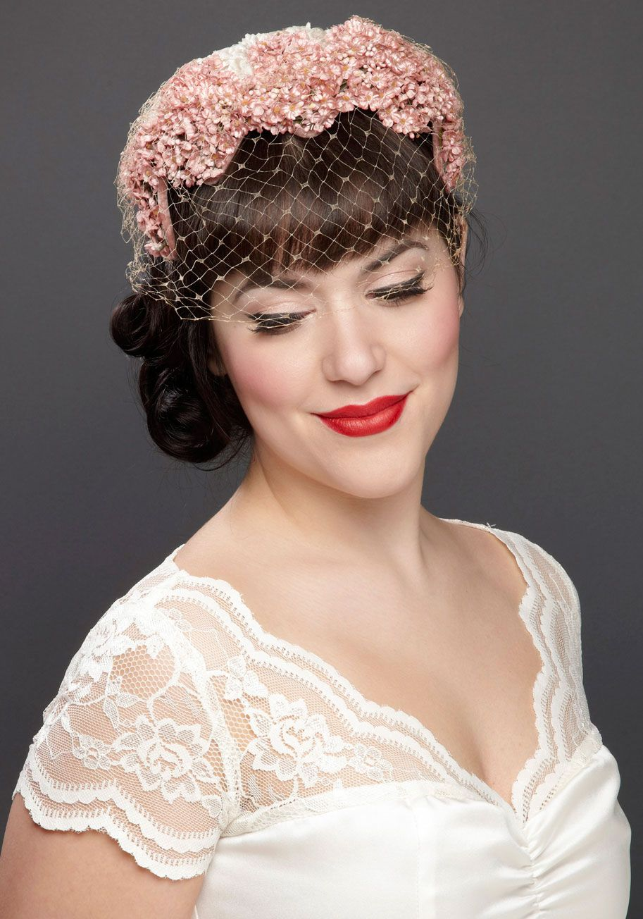 Vintage With This Spring Fascinator Your Enchanting Wedding Ensemble Came Into Bloom When You Placed Precious Atop Tresses