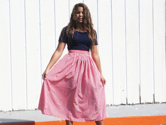 Candy Cane Skirt by wildsouls on Etsy