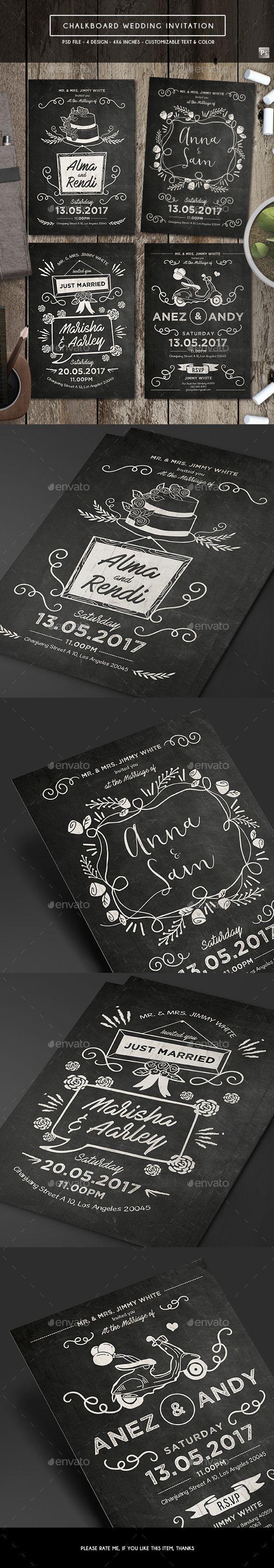 chalkboard invitation template psd card invite design templates