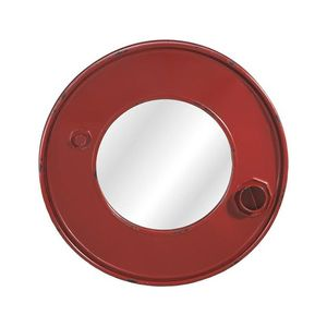 Red Metal Can Framed Wall Mirror
