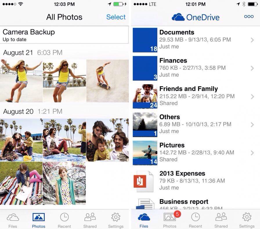 OneDrive Appli iphone, Ipad, Iphone