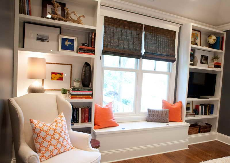DIY Built In Bookcase With Window Seat