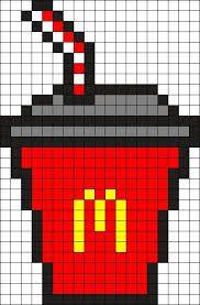 Pixel Art Nourriture Kawaii : pixel, nourriture, kawaii, Épinglé, Zahra, Sebti, Pixel, Boisson,, Nourriture,, Coloriage