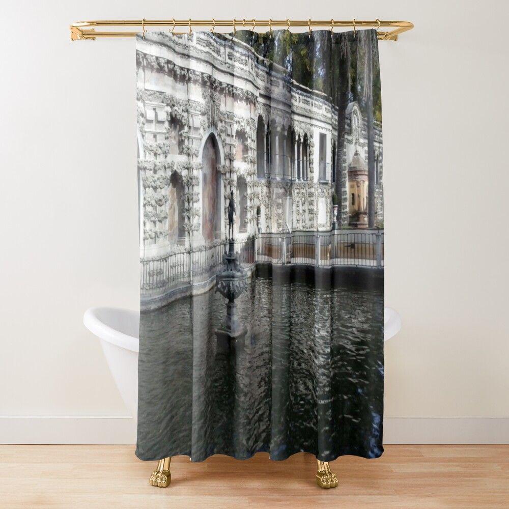 Cortina de ducha 'Un estanque renacentista' de arkitekta ...